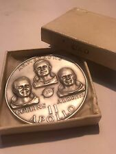 Apollo 11 .999 Silver Medallic Art Company Medal 4.91oz Silver In Original Box