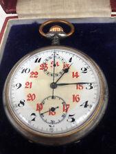BORDUHR Chronomètre Chronographe Montre Flieger Pilote Zeppelin Ballon f.l.z. avion