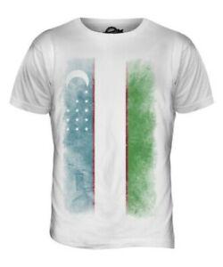 Usbekistan Faded Flagge T-Shirt Herren Uzbekistan Uzbek Geschenk Shirt