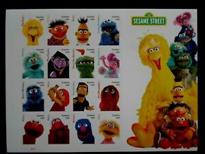 2019 Sesame Street - Cat # 5394a-p Sheet of 16 Forever Stamps MNH