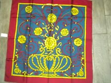 "HERMES Jouvence by Leila M. Signed 100% SILK SCARF  35"" x 35"" #5623"