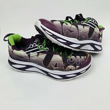 Hoka One One Women's W Huaka Running Shoes Plum Purple/Jasmine Green 9.5 B(M)