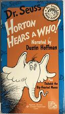 Dr. Seuss Horton Hears A Who!(VHS 1992)Dr. Seuss Dustin Hoffman-RARE-SHIPS N 24H