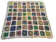 "44"" X 44"" Handcrafted Crochet Multicoloured Multi-Purpose Blanket"
