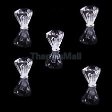 5x Clear Faceted Small Drawer Knob Cupboard Cabinet Jewelry Box Pull Handle DIY