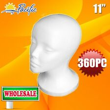 360PC WHOLESALE 11' FEMALE STYROFOAM FOAM MANNEQUIN head wig display hat glasses