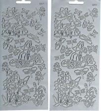 FAIRIES, BUTTERFLIES & DRAGONFLIES SILVER 541 PEEL OFF STICKERS - 2 SHEETS