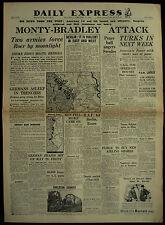 Original WWII 1945 Newspaper Germany Roer Aix Volkssturm Red Army Take Poznan