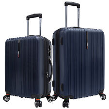 "Traveler Choice Tasmania Navy 21"" 25"" Polycarbonate Spinner Suitcase Luggage Set"