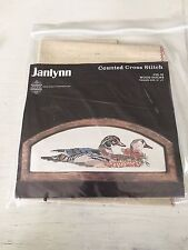 Janlynn Counted Cross Stitch Kit WOOD DUCKS #59-16 started 18x19