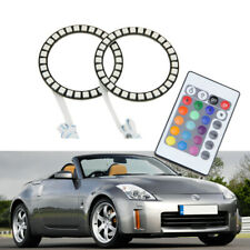 RGB Multi-Color SMD Led Angel Eyes Halo Rings For Nissan 350Z Headlight W/Remote