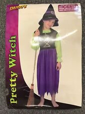 Halloween GirLs  Pretty Witch Fancy Dress Costume - Age 9 - 12 Great Party Fun