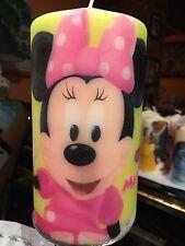 DISNEY Minnie Mouse e Daisy Duck decorato a mano Grosso pilastro candela 15x8cm
