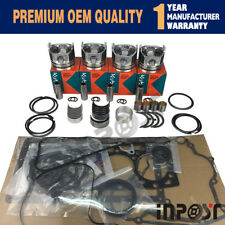 For Kubota V1505 Overhaul Rebuild Kit Full Gasket set Piston,Piston Ring