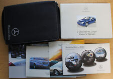 MERCEDES C-CLASS SPORTS COUPE CL 203 HANDBOOK WALLET 2000-2004 PACK 14757