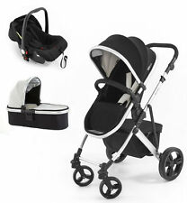 Tutti Bambini Riviera plus 3 in 1 silver travel system car seat black cool grey