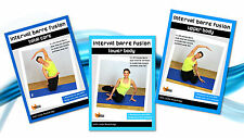 Cardio Toning EXERCISE DVDs - Barlates Body Blitz INTERVAL BARRE FUSION 3 DVDs!