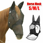 Horse Fly Flying Mask Masks UV Cover Net Face Ears Mesh Breathable Protection