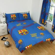 FC BARCELONA 'PATCH' DOUBLE DUVET COVER SET NEW FOOTBALL BARCA