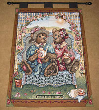 Boyds Bears Afternoon Tea Tapestry Wall Hanging