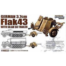 GWH L3519 German 3.7 cm Flak 43 with SdAh58 Trailer 1/35 plastic scale model kit