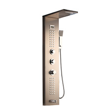 Rain Nickel Shower Panel Column Digital Display Massage Jet Hand Shower Faucet