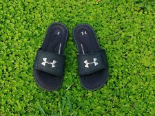Under Armour Ignite 4D Foam Black Slide Sandals Child Size 2