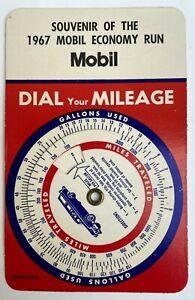 Old Original 1967 Mobil Economy Run Mileage Calculator Very Rare