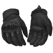 Adjustable Men Tactical Gloves Knuckle Sewn-in Brass Army Knuckles Black Medium