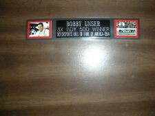 BOBBY UNSER (AUTO RACING) ENGRAVED NAMEPLATE FOR PHOTO/POSTER/FLAG