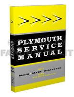 1957 1958 1959 Plymouth Repair Shop Manual Plaza Fury Belvedere Suburban Service