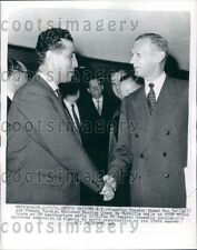 1962 Algeria Premier Ahmed Ben Bella & Maurice Couve de Murville Press Photo