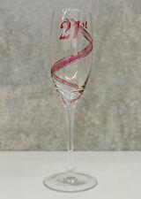 21st Birthday Champagne Glass Flute for Girl   Gift for Her   Keepsake Idea