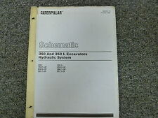Caterpillar Cat 350 & L Excavator Hydraulic System Schematic Diagram Manual