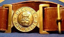 Elisabeth II (1952-now) British Army Leather Service Belt & Brass Buckle, UK