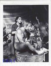 Ricardo Montalban barechested in tub VINTAGE Photo Blue