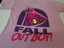 Fall Out Boy 'Manhead' Concert T Shirt  Heather Lavender  Oversize Small New