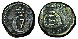 1 Royalin, 1773, Danish India Trankebar / Tranquebar, Nice Coin with clear date