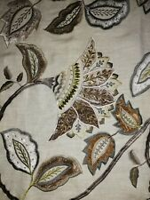 Mulberry home Anastasia Linen embroidery Remnant fabric RRP £369 per metre