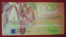 Fiji $50 Fifty Dollars FOLDER 2012 Bird Flora Fauna Currency Money Bank Note UNC