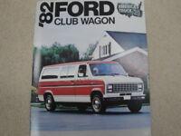 1982 Ford Club Wagon Advertising Brochure