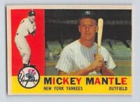 "1960  MICKEY MANTLE - Topps ""REPRINT"" Baseball Card # 350 - NEW YORK YANKEES"
