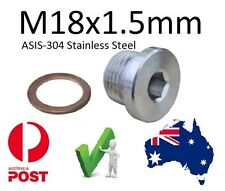 EXHAUST O2 SENSOR BUNG Plug S/Steel M18 X 1.5mm Lamda Sensor Block off bung
