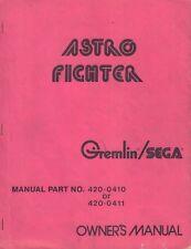 Astro Fighter Owner's Manual Gremlin Sega Part no 420-0410 / 420-0411 092717DBE