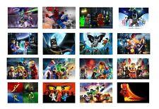 Lego Superhero - Children's Cartoon Colourful Wall Art Canvas Picture Prints