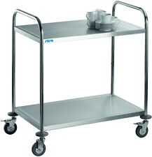 MDC / SARO Chariot service cuisine Wagon de Transport rouleau acier inox