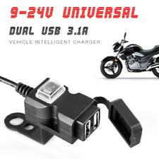 Waterproof 12V 3.1A Motorcycles Handlebar 2USB Charger Outlet Socket With Switch