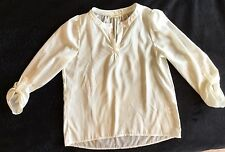 BEAUTIFUL SILKY CREAM GIRLS SHIRT BY SOPRANO, AGE 10-12 MADE IN USA