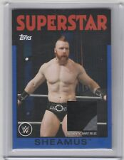 2016 Topps Heritage WWE Shirt Relic Blue /25 Sheamus 2 Color