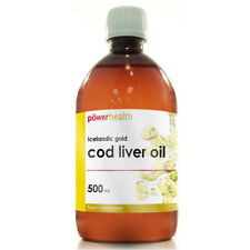 Power Health Icelandic Gold Pure Cod Liver Oil Liquid (500ml)